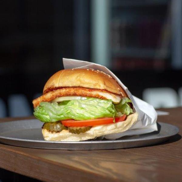 California Burgers - The Fairfax Burger No Meat Burger